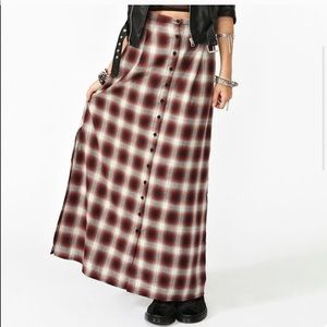 Unif Plaid Flannel Grunge Skirt Small Wasteland ⚡️